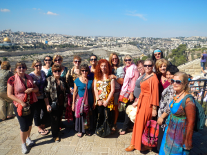 Braveheart Harmony Sistars on Mount Olives in Jerusalem
